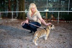 This is Kathy with one of the baby tigers