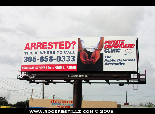 Roger B On a Billboard
